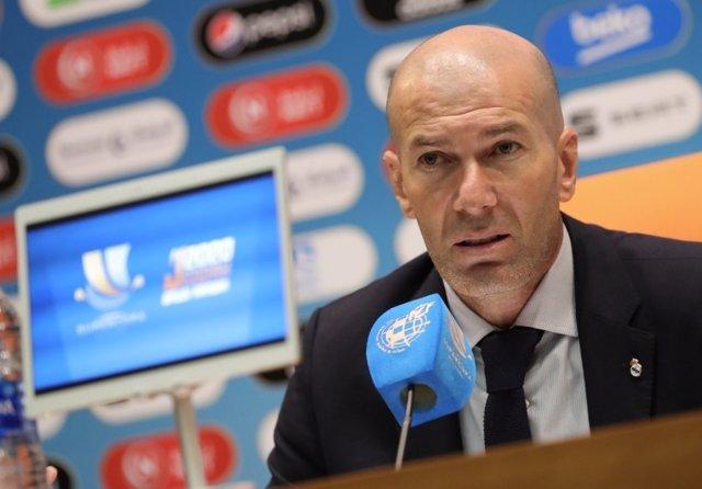 Zinédine Zidane, técnico del Real Madrid C.F.