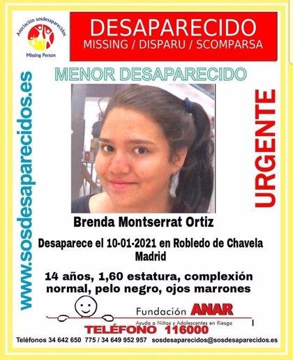 Desaparecida una menor de 14 años desde el lunes en Robledo de Chavela