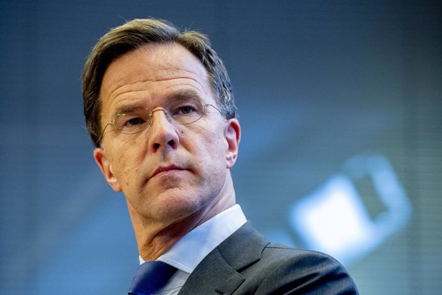 23 March 2020, Netherlands, The Hague: Prime Minister of Netherlands Mark Rutte reacts during a press conference about coronavirus (COVID-19) outbreak. Photo: Robin Utrecht/SOPA Images via ZUMA Wire/dpa