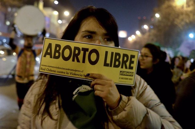Protestas en Chile a favor de la despenalización del aborto.