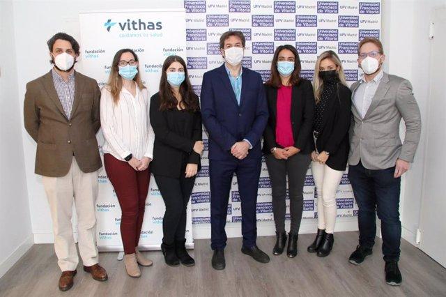 Equipo investigador del laboratorio de tumores cerebrales de la Universidad Francisco de Vitoria de Madrid dirigido por el Dr. Ángel Ayuso