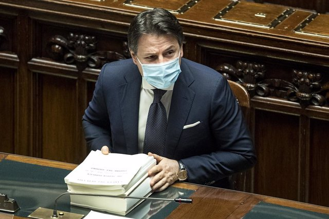 27 December 2020, Italy, Rome: Italian Prime Minister Giuseppe Conte attends a session at the Italian Chamber of Deputies for a final vote on the Budget Law. Photo: Roberto Monaldo/LaPresse via ZUMA Press/dpa