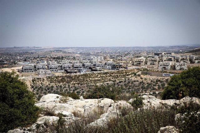Vista de un asentamiento israelí en Cisjordania