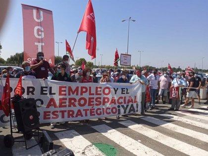 UGT propone retomar movilizaciones en Airbus ante el posible traslado de medio centenar de empleados de Cádiz a Sevilla