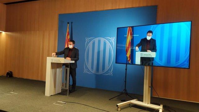 El secretari de Mesures Penals, Reinserció i Atenció a la Víctima de la Generalitat, Armand Calderó, en una conferència de premsa el 14 de gener del 2021.