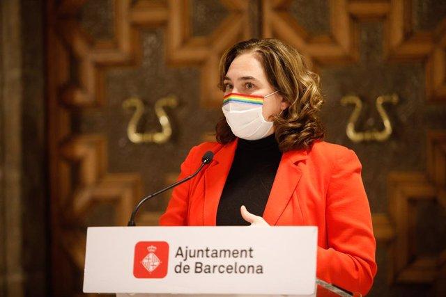 L'alcaldessa de Barcelona, Ada Colau, en una foto d'arxiu.