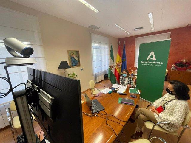 Reunión de Trinidad Rus con alcaldes de la provincia de Jaén