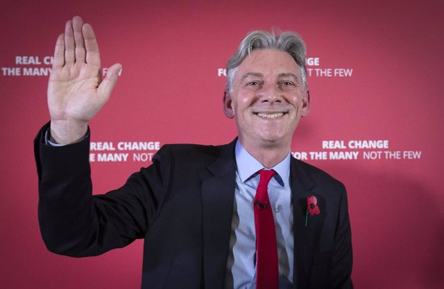 06 November 2019, Scotland, Glasgow: Scottish Labour leader Richard Leonard at Maryhill Burgh Halls, Glasgow, officially launches Scottish Labour's General Election campaign. Photo: Jane Barlow/PA Wire/dpa