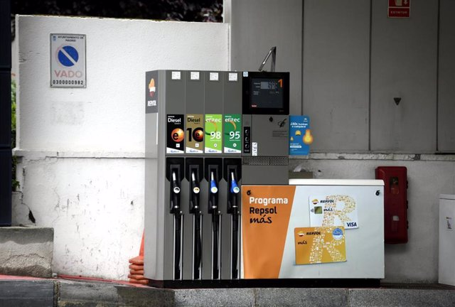 Surtidores de gasolina en una gasolinera