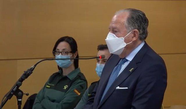 Félix Sanz Roldán declara en el juicio contra el comisario jubilado y en prisión provisional José Manuel Villarejo.