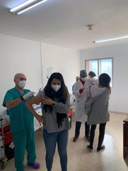 Vacunación contra el Covid en el hospital Virgen del Rosell de Cartagena