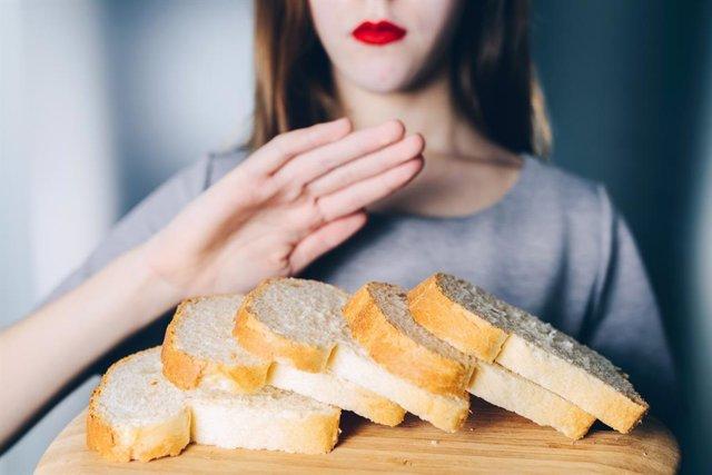 Gluten, pan, miga, rebanadas, intolerancia