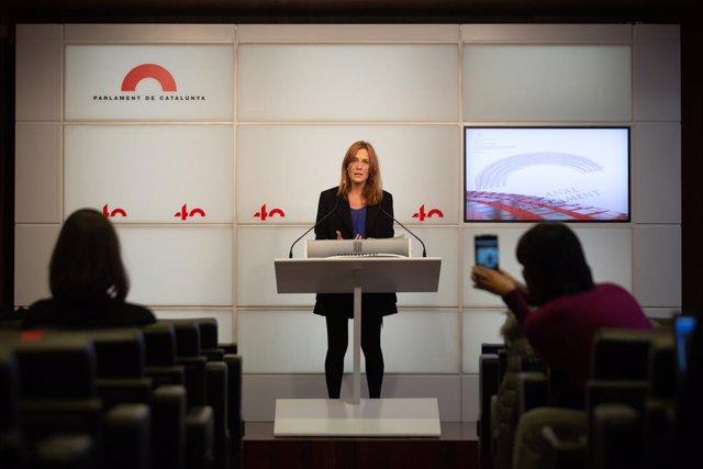 La candidata dels comuns a la presidència de la Generalitat, Jéssica Albiach