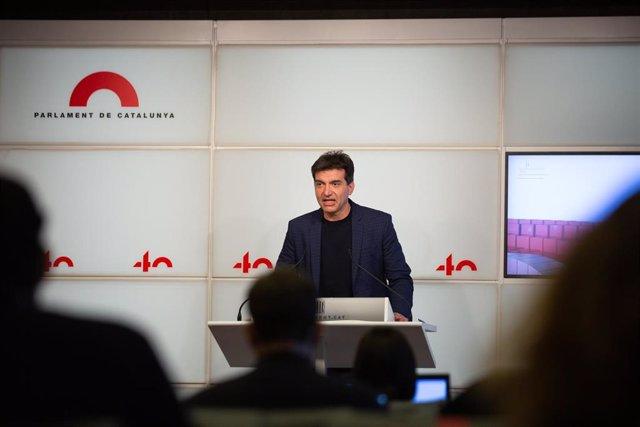 El presidente de ERC en el Parlament, Sergi Sabrià