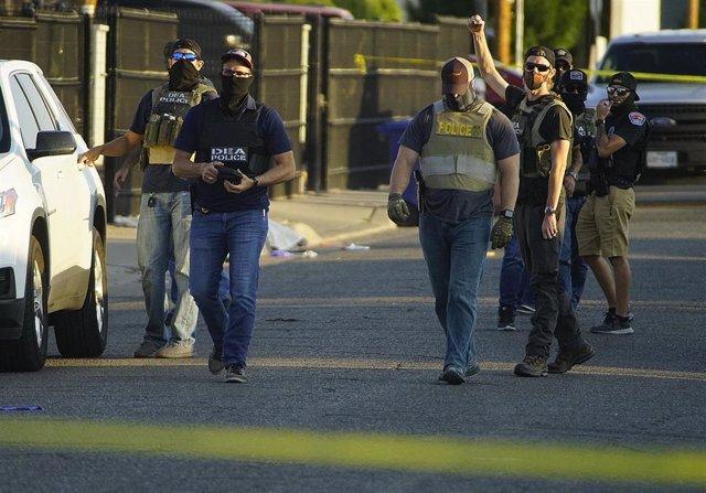 Agentes de la DEA en una operación en Alburquerque, Nuevo México.