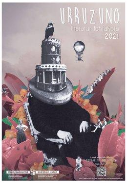 Cartel del  concurso literario Urruzuno