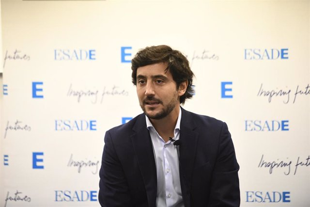 El economista y exdiputado de Ciudadanos Toni Roldán comenta en una rueda de prensa su incorporación a Esade y las principales líneas estratégicas y áreas de actuación del nuevo think tank que dirigirá, en Madrid (España), a 4 de octubre de 2019.