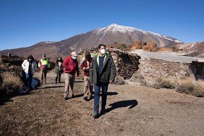 El Cabildo de Tenerife invierte 195.000 euros en la demolición de las casas del sanatorio del Teide