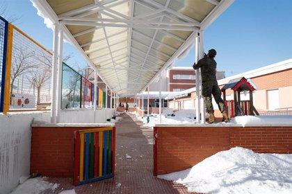 La Comunidad registra 905 incidencias en centros educativos por el temporal de nieve