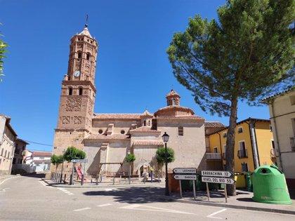 Comienzan las obras de la segunda fase en la iglesia de Navarrete del Río (Teruel)