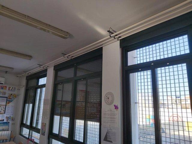 Protección contra el frío en colegios de Alcalá de Guadaíra