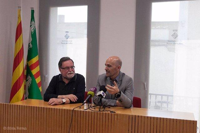 L'alcalde de Parets, Sergi Mingote, al costat del seusuccessor, Francesc Jutjat