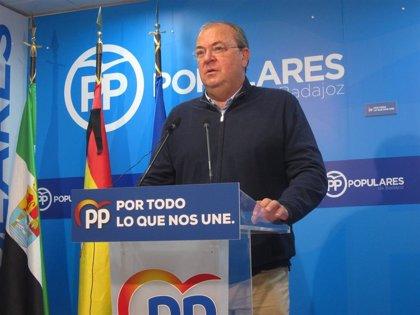 """El PP afea a Vara que anuncie su candidatura a la reelección cuando están """"muriendo extremeños a diario"""" por el Covid-19"""
