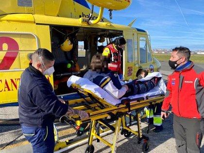 Rescatado un joven de 25 años tras caerse en Ruente y fracturarse una pierna