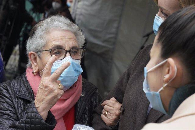 Nieves Cabo Vidal, primera vacunada contra la covid-19 en Galicia