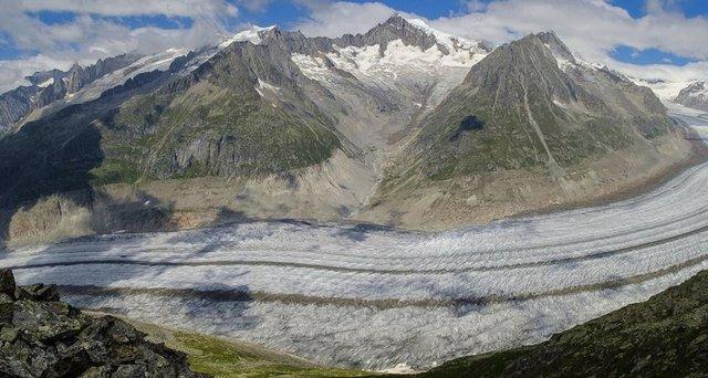 El glaciar Aletsch, el mayor en los Alpes