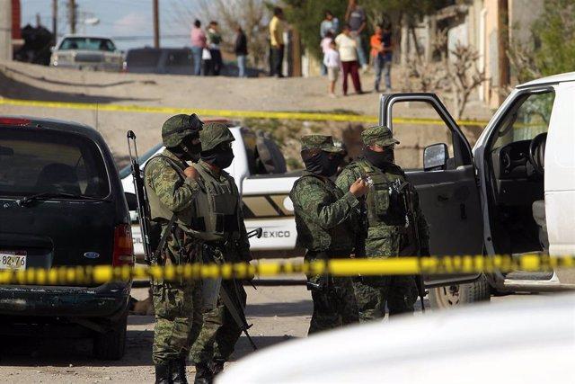 Imagen de archivo de un operativo contra el crimen organizado en México.
