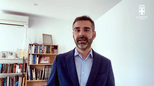 Alcalde de Almería en el vídeo compartido por redes sociales