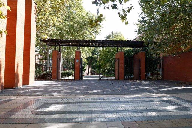 Entrada de la Universidad Carlos III en el campus del municipio de Getafe.
