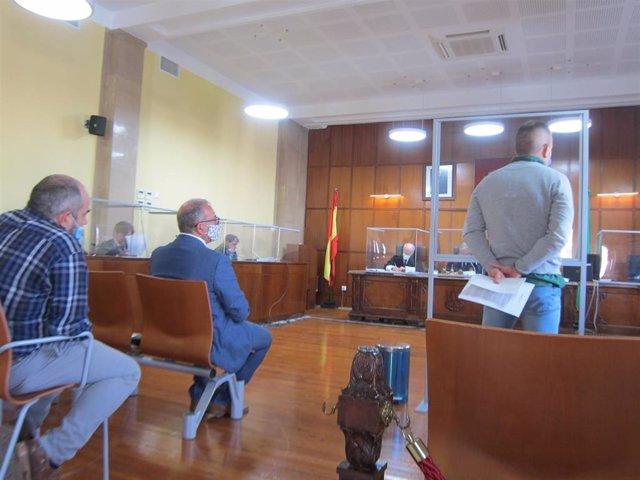 El guardia civil condenado prestando declaración en el juicio celebrado en la Audiencia de Jaén