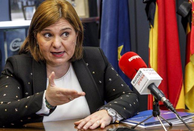 La presidenta del PP de la Comunidad Valenciana, Isabel Bonig, responde durante una entrevista concedida a Europa Press, en Valencia, Comunidad Valenciana, (España), a 14 de enero de 2021.