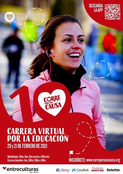 Abiertas las inscripciones para la X carrera solidaria de Entreculturas por la educación, que este año será virtual
