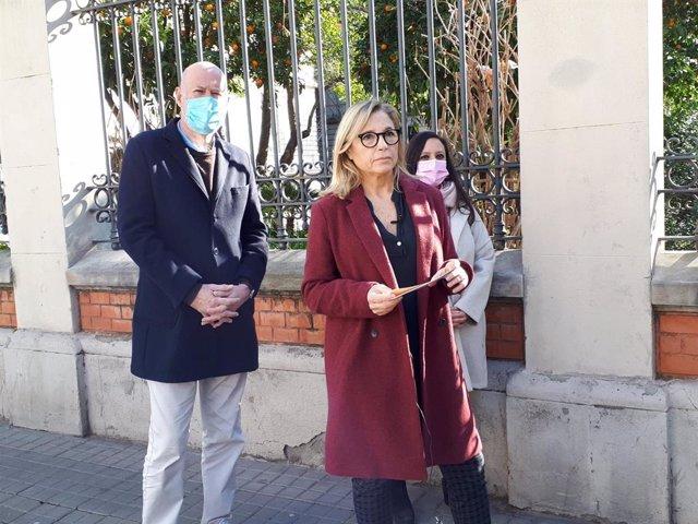 La número 2 del PDeCAT a les eleccions catalanes, Joana Ortega, en declaracions als mitjans.
