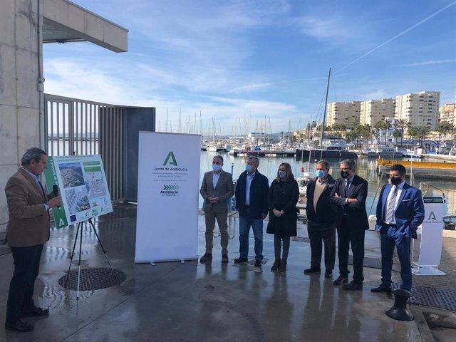 Visitas inicio de las obras del puerto de Estepona