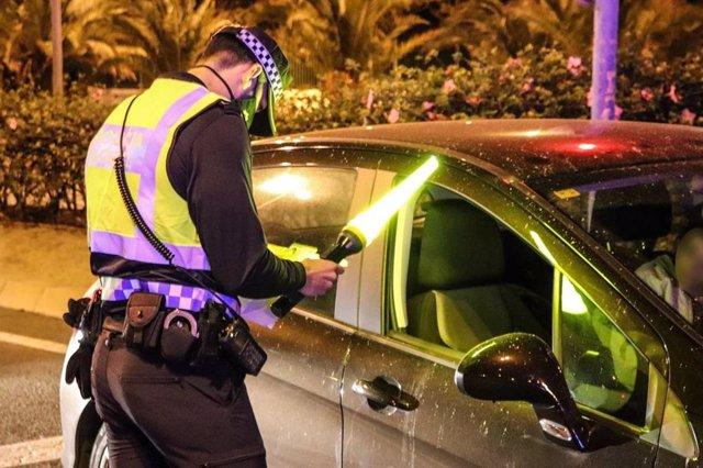 Control de la Policía Local en Alicante