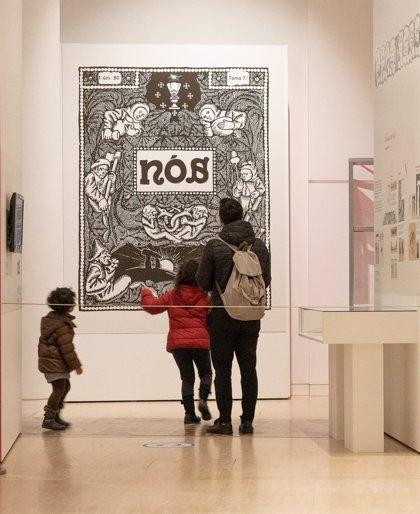 La exposición que conmemora el centenario de la revista 'Nós' se despide del Gaiás rumbo a Ourense y Pontevedra