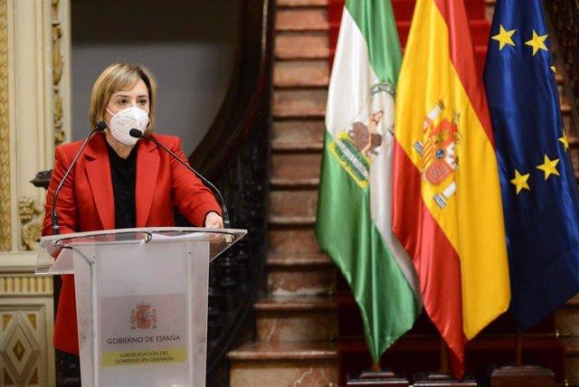 La delegada del Gobierno en Andalucía, Sandra García, en imagen de archivo
