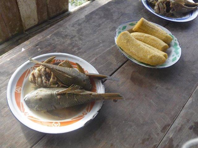 Comida tradicional de los Shuar.