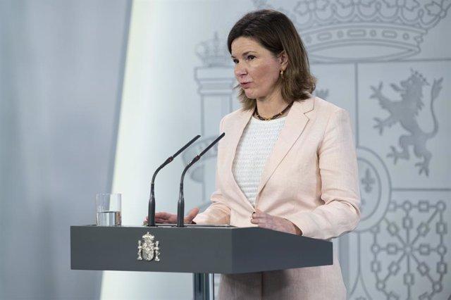 La Secretaria General de Transportes, María José Rallo,  En Madrid (España), a 4 de mayo de 2020.