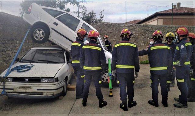 Imagen de uno de los cursos de formación de Bomberos de Diputación de Palencia.