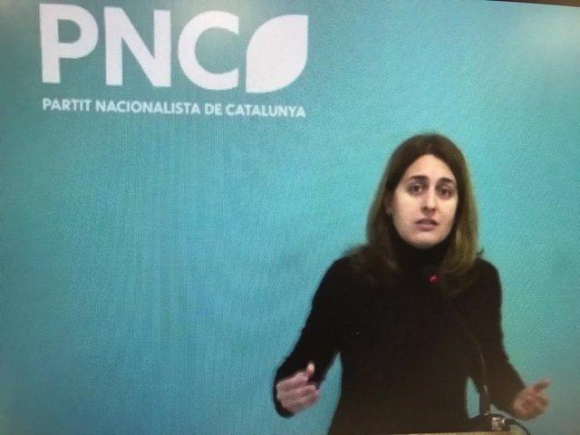 La candidata del PNC a les eleccions, Marta Pascal