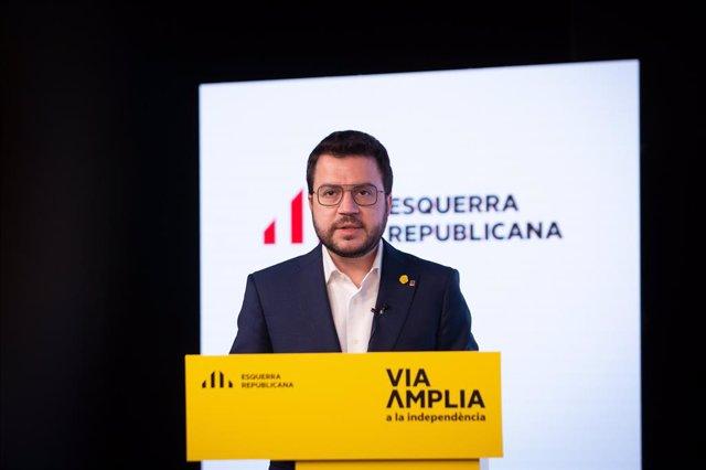 El vicepresident del Govern i candidat d'ERC a les eleccions catalanes, Pere Aragonès