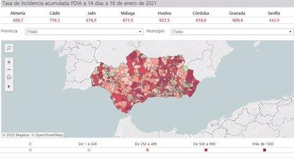 Todas las capitales andaluzas menos Jaén y Sevilla superan la tasa de 500 casos Covid que obliga al cierre perimetral