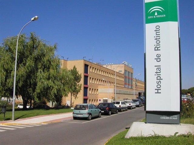 Fachada del Hospital de Riotinto./archivo