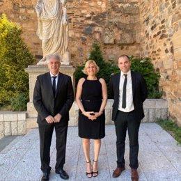 Antonio Bohigas, Raquel Preciados y Antonio Ibarra, concejales de Ciudadanos en el Ayuntamiento de Cáceres en una foto de archivo