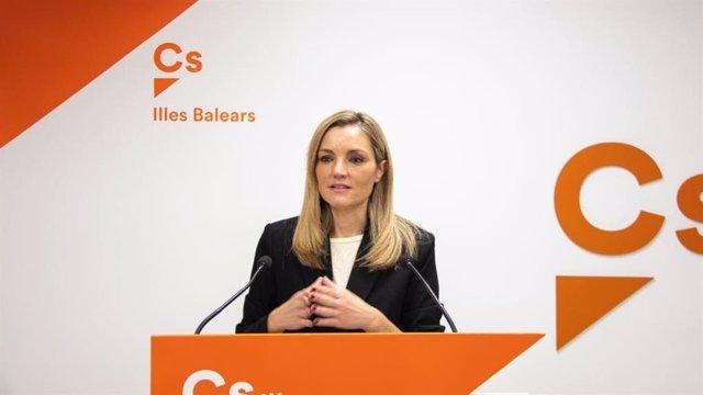 La coordinadora autonómica de Ciudadanos (Cs) Baleares y portavoz del grupo parlamentario, Patricia Guasp, en una rueda de prensa.